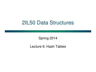 2IL50  Data Structures