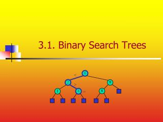 3.1. Binary Search Trees