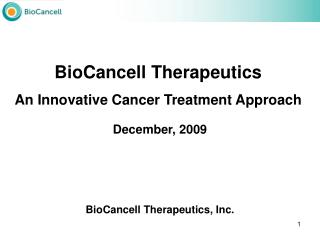 BioCancell Therapeutics, Inc.
