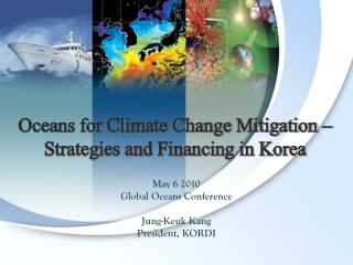 Oceans for Climate Change Mitigation –  Strategies and Financing in Korea