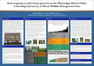 Avian response to silviculture practices in the Mississippi Alluvial Valley:
