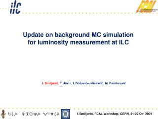 Update on background MC simulation for luminosity measurement at ILC