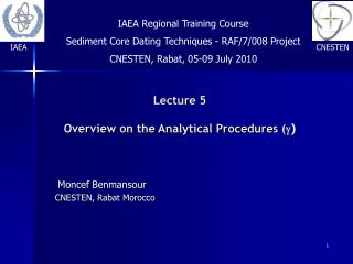 Lecture 5 Overview on the Analytical Procedures ( g )