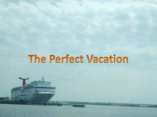 The Perfect Vacation