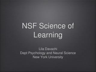 NSF Science of Learning