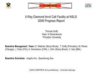 X-Ray Diamond Anvil Cell Facility at NSLS:  2008 Progress Report