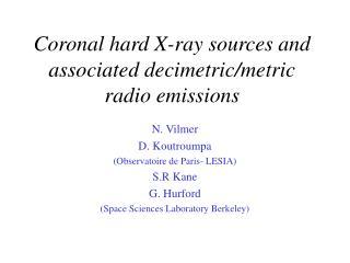 Coronal hard X-ray sources and associated decimetric/metric radio emissions