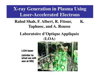 X-ray Generation in Plasma Using Laser-Accelerated Electrons