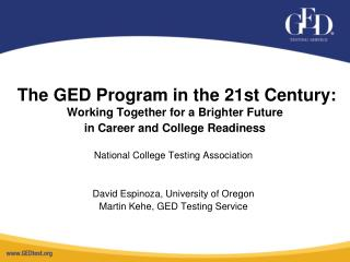 National College Testing Association David Espinoza, University of Oregon