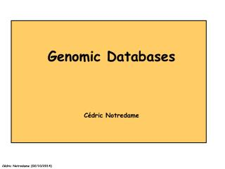 Genomic Databases