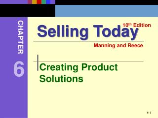 Creating Product Solutions