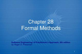 Chapter 28 Formal Methods