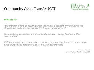 Community Asset Transfer (CAT)
