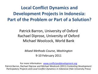 Local Conflict Dynamics and