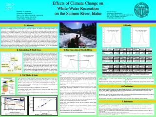 Effects of Climate Change on  White-Water Recreation  on the Salmon River, Idaho