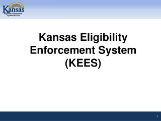 Kansas Eligibility Enforcement System (KEES)