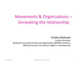 Movements & Organizations –  Unraveling the relationship