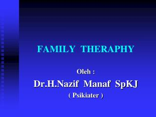 FAMILY  THERAPHY