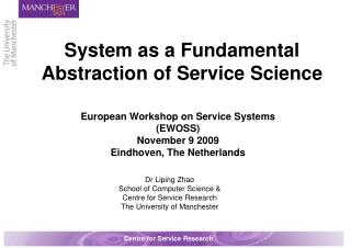 System as a Fundamental Abstraction of Service Science