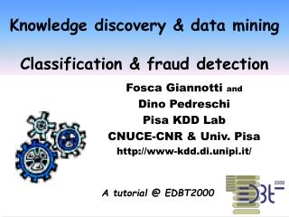 Knowledge discovery & data mining  Classification & fraud detection