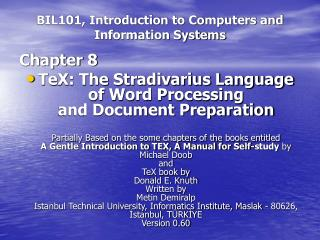 BIL101, Introduction to Computers and Information Systems