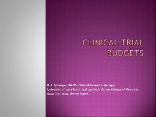 Clinical Trial Budgets