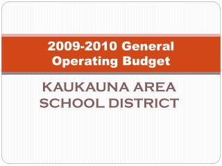 2009-2010 General Operating Budget
