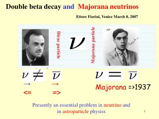 Double beta decay  and   Majorana neutrinos
