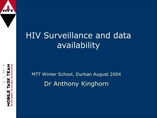 HIV Surveillance and data availability