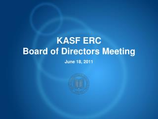 KASF ERC Board of Directors Meeting