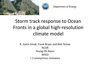Storm track response to Ocean Fronts in a global high-resolution climate model