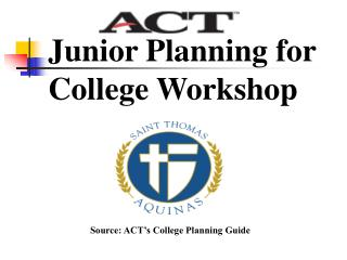 Junior Planning for College Workshop