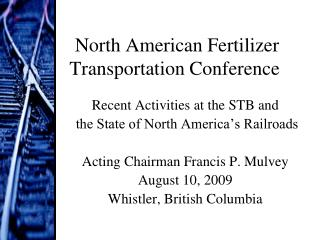 North American Fertilizer Transportation Conference