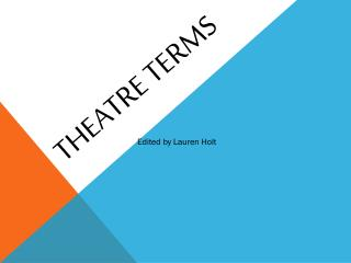 Theatre Terms