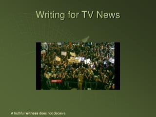 Writing for TV News