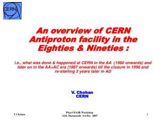 V. Chohan CERN