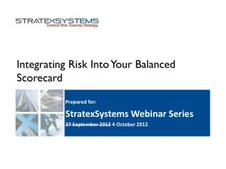 Integrating Risk Into Your Balanced Scorecard