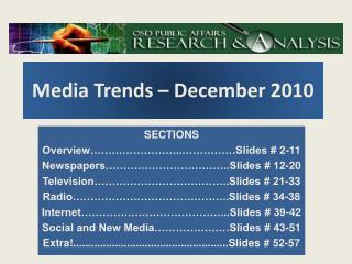 Media Trends – December 2010