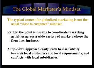 The Global Marketer's Mindset