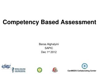 Competency Based Assessment