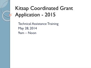 Kitsap Coordinated Grant Application - 2015