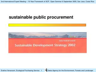 sustainable public procurement