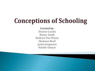 Conceptions of Schooling