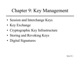 Chapter 9: Key Management