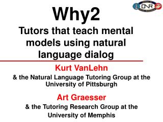 Why2 Tutors that teach mental models using natural language dialog