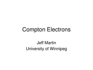 Compton Electrons