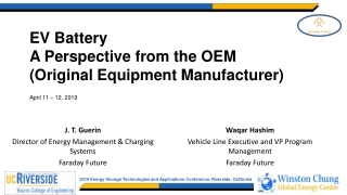 EV Battery A Perspective from the OEM (Original Equipment Manufacturer)