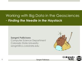 Working with Big Data in the Geosciences  -  Finding the Needle in the Haystack