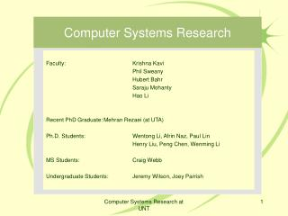Computer Systems Research