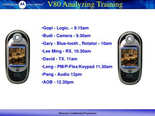 V80 Analyzing Training